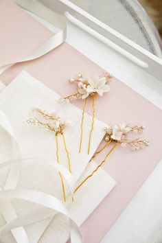 BRIAR-ROSE | bridal hair pins | Percy Handmade
