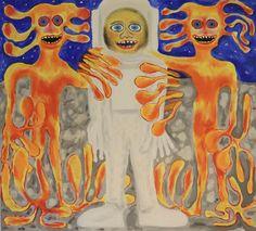 Friends/Maarit Korhonen, acrylic, oil sticks, canvas, 73cm x 81cm Dark Paintings, Original Paintings, Online Painting, Artwork Online, Dancer In The Dark, Autumn Painting, Original Art For Sale, Artists Like, House Painting