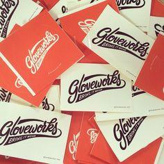 Gloveworks is your custom baseball glove maker; Cool gloveworks sticker is all yours! @customglove #baseball #gloveworks