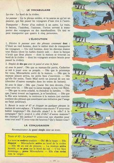 Manuels anciens: Tranchart, Levert, Rognoni, Bien lire et comprendre Cours élémentaire (1963) : grandes images French Language Lessons, French Language Learning, French Lessons, French Learning Books, Teaching French, English Story Books, French Worksheets, French Kids, French Grammar