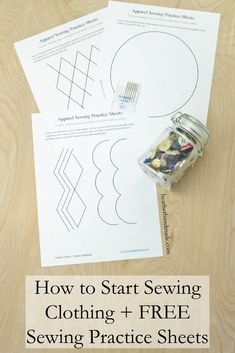 Do you want to learn how to sew? These are some great practice sheets to practice using your sewing machine! These shapes are often used while sewing apparel so they are a great way to practice. There's also lots of tips to start sewing your own clothes! How to Start Sewing Clothing + Free Sewing Practice Sheets // heatherhandmade.com