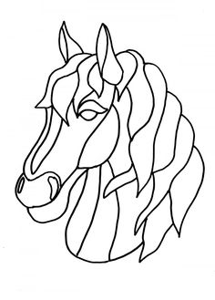 How to create your own fusible applique pattern from a drawing Horse head drawing Applique Quilt Patterns, Applique Templates, Owl Templates, Applique Tutorial, Felt Patterns, Horse Head Drawing, Stained Glass Patterns Free, Horse Quilt, Horse Pattern