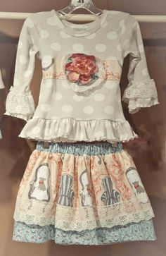 Vintage English Garden Skirt & Top Set2T to 10 YearsNow in Stock!