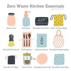 Zero Waste Kitchen Essentials – Goldilocks Wraps waste kitchen essentials waste living tips Mason Jars Bulk, Natural Bristle Brush, No Waste, Eco Friendly House, Eco Friendly Products, Eco Friendly Cars, Produce Bags, Produce Storage, Clean Living
