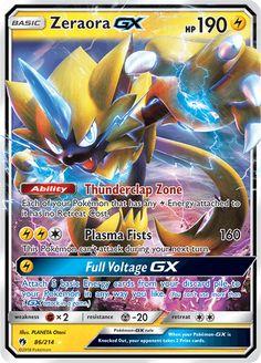 Pok mon Trading Card Game Pokemon Card: Zeraora Gx 86 214 Lost Thunder H Pokemon Umbreon, Pokemon Toy, Pokemon Party, Draw Pokemon, Carte Pokemon Ex, Pokemon Cards For Sale, Pokemon Trading Card, Trading Cards, Thunder Pokemon