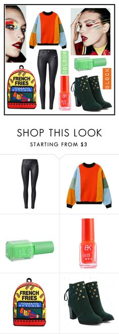 """""""Color Block Sweatshirt. Autumn winter fashion from twinkledeals :)"""" by beanpod ❤ liked on Polyvore"""