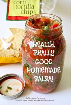 Now You Can Pin It!: Really Really Good Homemade Salsa
