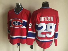 Mens Ice Hockey Shirts Montreal Canadiens  29 Ken Dryden Red CCM Stitched  NHL Jersey 8229b07ef