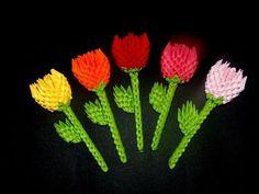 3D Origami small flower  tutorial | DIY paper  flower - YouTube