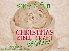 Christmas Bible Craft and Lesson for Toddlers and Preschoolers - Baby Jesus