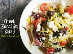 This Greek Zucchini Salad is the perfect substitute for a pasta salad ...