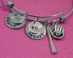 Baseball Mom | Baseball Mom Bracelet | Gift for Mom | Mom Gifts | Mom from Son | Baseball Gifts Bracelet | Baseball Jewelry | Baseball Charm by charmedbykobe on Etsy
