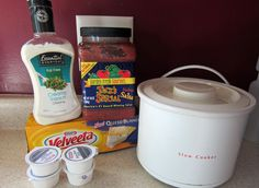 Queso Ingredients - queso in the crockpot and it is delicious.
