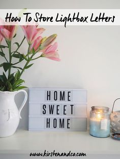 how to store lightbox letters. Kirsten and co show you how to store lightbox letters using a really quick and easy method that will keep all of your lightbox letters organised and in one place. Suitable for every lightbox including Typo, Kmart and anywhere else!
