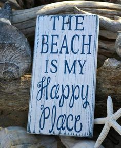 "My ""happy place."" I always feel close to God at the beach. When I look at the vastness of the ocean, I feel small, but not insignificant! Perfect Beach Sign for the Beach House, Coastal Cottage or a Nautical Home! I Need Vitamin Sea, Style Deco, Beach Quotes, Ocean Quotes, Surf Quotes, Quotes Quotes, My Pool, I Love The Beach, Beach Signs"