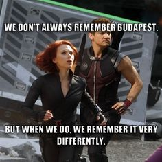 Hawkeye and Black Widow, The World's Most Interesting Avengers! LOL I can't believe no one's done this yet!