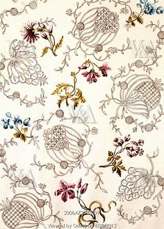 Textile design, by Anna Maria Garthwaite (1690-1763). Watercolour. Spitalfields, London, c.1751.