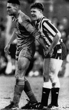 Go on Vinny! I like Vinnie Jones, but oohwee... that would not have been fun to deal with on the pitch!