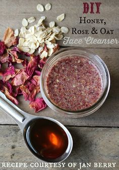 The best DIY projects & DIY ideas and tutorials: sewing, paper craft, DIY. Natural & DIY Skin Care : Strangers & Pilgrims on Earth: Make Your Own Honey, Rose & Oat Face Cleanser {DIY}. Homemade Facials, Homemade Skin Care, Diy Skin Care, Homemade Beauty, Diy Beauty, Homemade Products, Homemade Scrub, Beauty Tips, Neutrogena