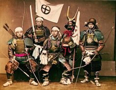 A group of samurai.