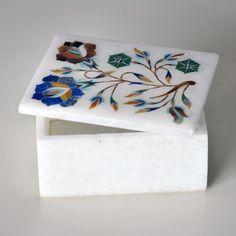 Marble trinket storage box.