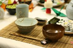 traditional japanese table setting by knife_and_fork, via Flickr