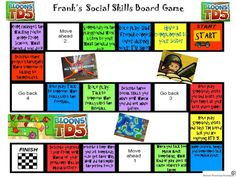 "Game-like social skills methods for kids with autism, Part 2: Make your own social skills game from ""Autism Teaching Strategies"". Pinned by SOS Inc. Resources.  Follow all our boards at http://pinterest.com/sostherapy  for therapy resources."