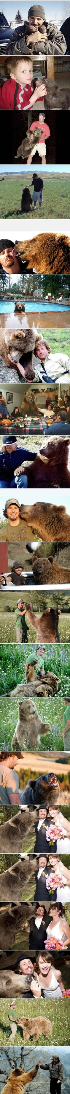 This proves if u care for a baby bear they'll love u for life