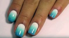 17 Gradient Nails That Look Incredible for the Summer Gradient Nails, Blue Nails, Water Marble Nails, You Nailed It, Nail Art Designs, That Look, Glitter, The Incredibles, Summer