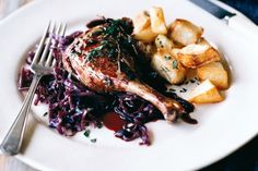 Clink your glasses and celebrate over a gourmet plate of duck legs in rich red wine sauce.