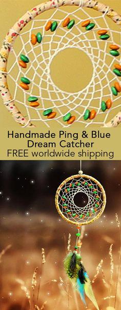 Handmade Ping & Blue Dream Catcher