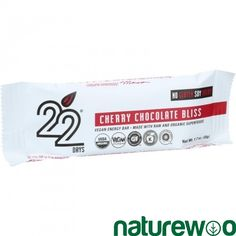 22 Days Nutrition - 1202969 - Organic Energy Bar - Cherry Chocolate Bliss - Case of 12 - 1.7 oz Bars