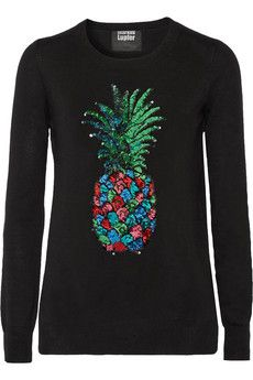 Markus Lupfer Emma sequined merino wool sweater | THE OUTNET