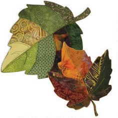 Natural Inspiration Leaf Bowls Pattern and Fusible Interfacing