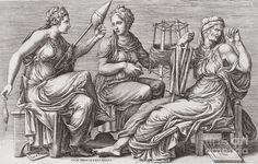 """The Three Witches or Weird Sisters; """"the Fates"""" -  in Shakespeare's Macbeth (c. 1603–1607). Their origin lies in Holinshed's Chronicles (1587), a history of England, Scotland and Ireland. Other sources include British folklore, contemporary treatises on witchcraft including King James I and VI's Daemonologie, Scandinavian legends of the Norns, the Greek myths of the Moirai and the Roman myths of the Parcae. Portions of Thomas Middleton's play The Witch were incorporated into Macbeth around…"""