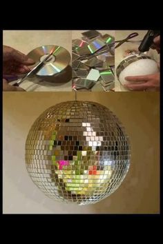 Craft one up from old CDs and a styrofoam ball.