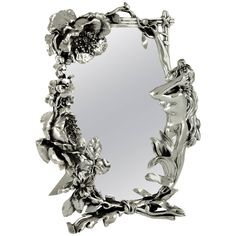 French Art Nouveau Silvered Table Mirror with Nude by Peyre, 1900 | From a unique collection of antique and modern sheffield and silverplate at https://www.1stdibs.com/furniture/dining-entertaining/sheffield-silverplate/