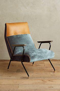 Slub Velvet Quentin Chair #anthropologie