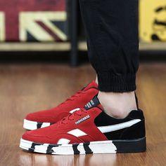 Geometric Flat Walking Shoes Casual Shoes, Men Casual, Mens Trainers, Men Sneakers, Men's Shoes, Shoes 2016, Spring Shoes, Walking Shoes, Running Shoes For Men