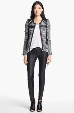 IRO Contrast Panel Jacket available at #Nordstrom