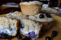 Lowfat/Low Calorie Lemon Blueberry Cheesecake Protein Muffins by Stephanie.Fitness