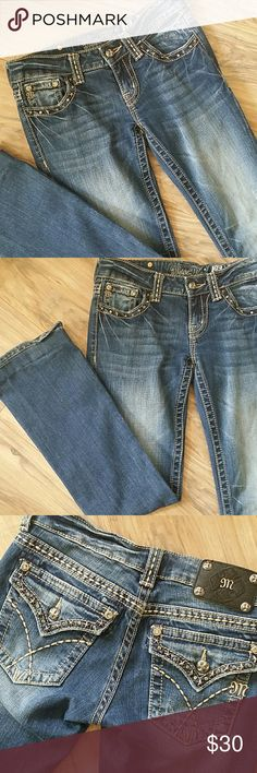 👖REDUCED, Miss Me jeans boot cut Miss Me jeans.  Size 26. Boot cut. Inseam 29. Miss Me Jeans Boot Cut