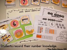Serving Up DONUT Numbers - Number Recognition and Fluency activity!