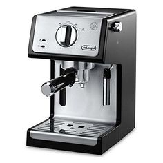 De'Longhi Bar Pump Espresso and Cappuccino Machine, user-friendly espresso machine. This beautiful espresso machine can be bought at Everyday Espresso. Cappuccino Torte, Cappuccino Pulver, Cappuccino Maker, Cappuccino Coffee, Espresso Maker, Breville Espresso, Coffee Mugs, Coffee Geek, Espresso Cups
