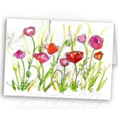 Watercolor- poppies