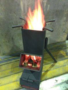 IRON PRODUCTS | Rocket Stove‎ (100-150RS) ブラック