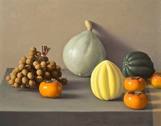 Amy Weiskopf Still Life with Longan Berry and Persimmons 2011