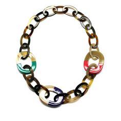 Horn Chain Necklace   #favehandmade #handcrafted #handmadegifts #handmadewithlove