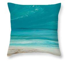 Days of Summer Green Pillow by  Coastal Living Art Acrylic ~  #beachpillow#coastalhomedecor#nauticaldecor#nauticalpillow#beachdecor#throwpillow#homedecor