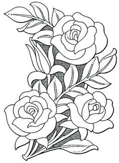 Pictures on Sheridan flower pattern drawing Craft Patterns, Flower Patterns, Embroidery Patterns, Hand Embroidery, Flower Pattern Drawing, Flower Design Drawing, Leather Working Patterns, Plant Drawing, Drawing Drawing